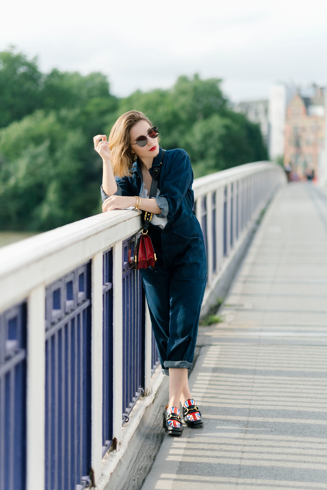 7 More Minutes. Fashion, travel and lifestyle blog by Alyona Gasimova. In Transit. How To Style A Denim Jumpsuit. www.7moreminutes.com